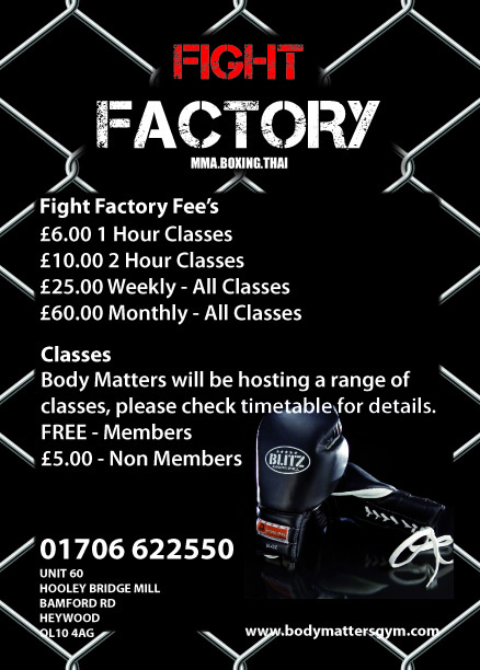Body Matters Gym - FIGHT-FACTORY - Heywood - Full Fitness